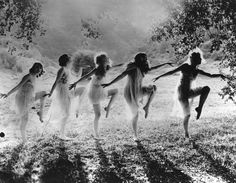 black-and-white-women-dancing